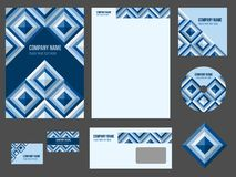 Corporate identity (stationery) for company Royalty Free Stock Image