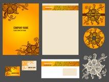 Corporate identity (stationery) for company Royalty Free Stock Photos
