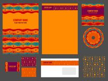 Corporate identity (stationery) for company Stock Image
