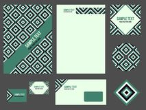 Corporate identity (stationery) for company Stock Photos