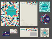 Corporate identity - stationery for company Stock Photography