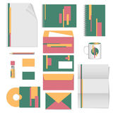 Corporate identity. stationery template design. Documentation for business. Stock Photo