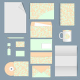 Corporate identity. stationery template design. Documentation for business. Royalty Free Stock Images
