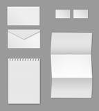 Corporate identity stationery templates Stock Image