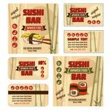 Corporate identity for sushi bar Stock Image