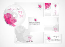 Corporate Identity Template. Stylized floral Corporate Identity Template design, Vector Stock Photos