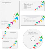 Corporate identity template. Illustration royalty free illustration
