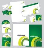 Corporate identity template Stock Image
