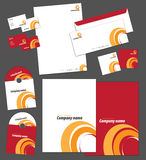 Corporate identity template. And vector stationery set Royalty Free Stock Photos