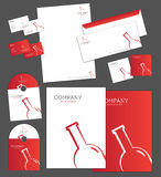 Corporate identity template. And vector stationery set Stock Photos