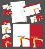 Corporate identity template. And vector stationery set Royalty Free Stock Photo