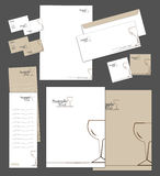 Corporate identity template. And vector stationery set Stock Photo