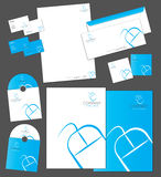 Corporate identity template. And vector stationery set Stock Image