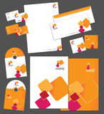 Corporate identity template. And vector stationery set Royalty Free Stock Images