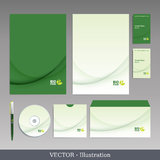 Corporate identity template. Stock Photos