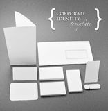 Corporate identity template. Identity design, corporate templates, company style, isolated on grey backgroundr Royalty Free Stock Photos