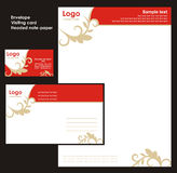 Corporate Identity Template. Vector (card, envelope, note-paper vector illustration