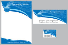 Corporate identity template. Vector with logo, memo, envelope and visiting card Royalty Free Stock Photos