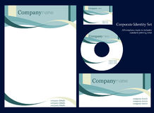 Corporate identity template. More business stationary in my portfolio Stock Photo