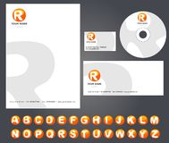 Corporate identity template with alphabet Stock Photography