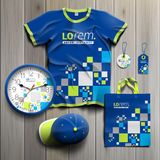 Corporate Identity Template And Promotional Gifts Stock Image