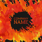 Corporate identity template in art stiyle. Textured painted handdrawn background Stock Photo