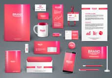 Corporate identity template. For beauty saloon in  format Stock Photography