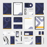 Corporate identity template blue line. Corporate identity template big set. Documentation for business. Vector, modern company style for brandbook and guideline vector illustration