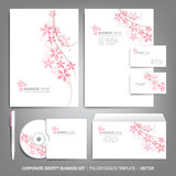 Corporate identity template for business artworks. Editable corporate identity template - design including CD, letterhead blank, envelope and visiting card Royalty Free Stock Image