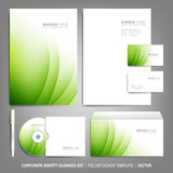 Corporate identity template for business artworks. Editable corporate identity template - design including CD, letterhead blank, envelope and visiting card Stock Images