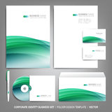 Corporate identity template for business artworks. Editable corporate identity template - design including CD, letterhead blank, envelope and visiting card Stock Photos