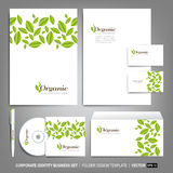 Corporate identity template for business artworks Royalty Free Stock Image
