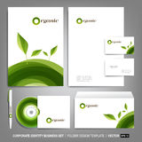 Corporate identity template for business artworks. Editable corporate identity template - design including CD, letterhead blank, envelope and visiting card Stock Photo