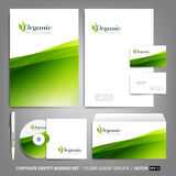 Corporate identity template for business artworks. Editable corporate identity template - design including CD, letterhead blank, envelope and visiting card Royalty Free Stock Images