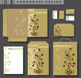 Corporate Identity template, coffee Stock Image