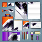Corporate identity template with color elements. Vector company business style for brandbook, report and guideline. Stationery tem Stock Photo