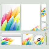 Corporate identity template with color elements. Vector company business style for brandbook, report and guideline. Stationery tem Royalty Free Stock Images
