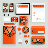 Corporate identity template with color elements. Vector company business style for brandbook, report and guideline. Stationery tem Royalty Free Stock Photography