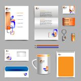 Corporate identity template with color elements. Vector company style for brandbook and guideline. EPS 10 royalty free illustration