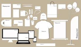 Corporate identity template design Stock Image