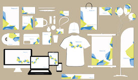 Corporate identity template design Royalty Free Stock Image
