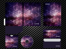 Corporate identity template design purple color business set stationery. Royalty Free Stock Photo