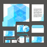 Corporate identity template design stationery. Stock Images