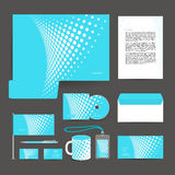 Corporate identity template design stationery. Royalty Free Stock Photo