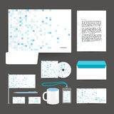Corporate identity template design stationery. Stock Image