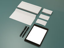 Corporate identity template design stationery. High resolution Royalty Free Stock Photo