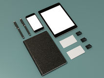Corporate identity template design stationery. High resolution Royalty Free Stock Photos