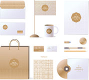 Corporate identity template. Logo and design elements. Golden style Stock Photos