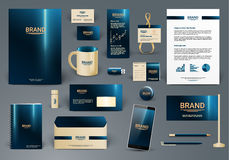 Corporate identity template. Luxury and deep colors Royalty Free Stock Photography