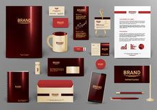 Corporate identity template. Luxury and deep colors. Good inspiration materials for your creativity design work Stock Image